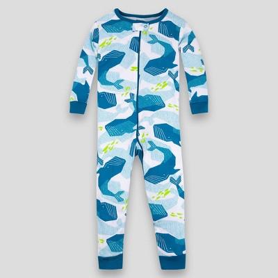 Lamaze Toddler Boys' Whale Pajama Jumpsuit - Blue