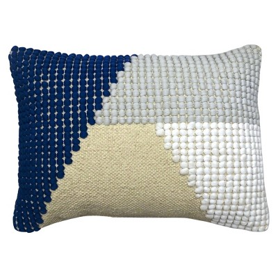 Textured Knob Lumbar Pillow - Blue/White - Project 62™