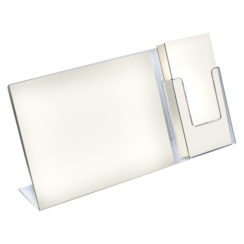 Azar® L-Shaped Sign Holder With Trifold Pocket 2ct - image 1 of 1
