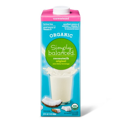 Organic Unsweetened Coconutmilk Non-Dairy Beverage - 32oz - Simply Balanced™ - image 1 of 1