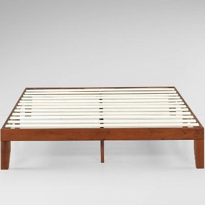 Wen Wood Platform Bed Frame Cherry - Zinus