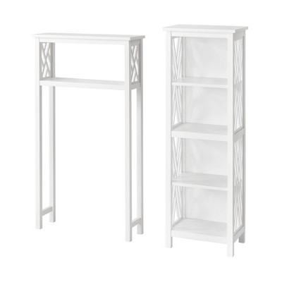 Coventry Over the Toilet Tall Open Bath Storage Shelf White - Alaterre Furniture