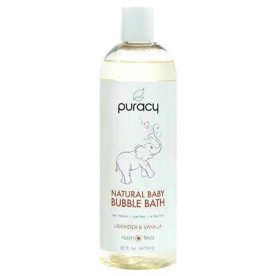 Puracy Natural Baby Bubble Bath, Tear-Free, Sulfate-Free, Lavender & Vanilla - 16oz
