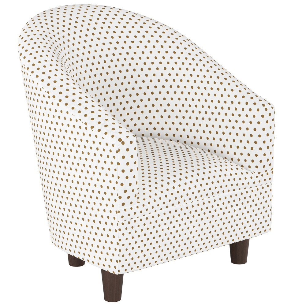 Kid's Printed Tub Chair Gold Dots with Espresso Legs - Pillowfort