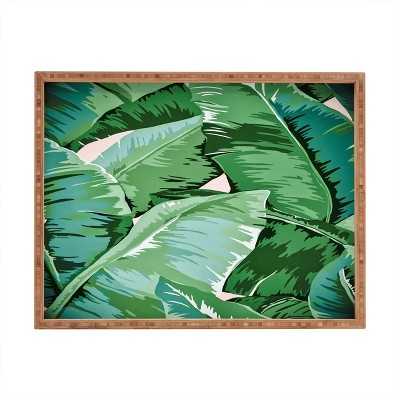 Gale Switzer Banana Leaf Grandeur II Rectangle Bamboo Tray - Deny Designs