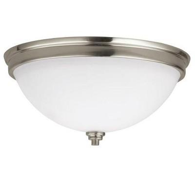 "Sea Gull Lighting Parkfield 2-Light 13"" Round Flush Mount, Brushed Nickel 75520-962"