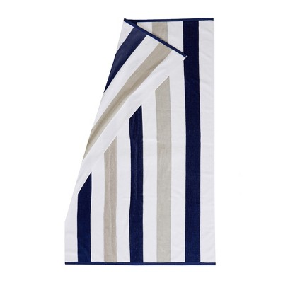 Great Bay Home Cabana Striped Reversible 4-Pack Beach Towel