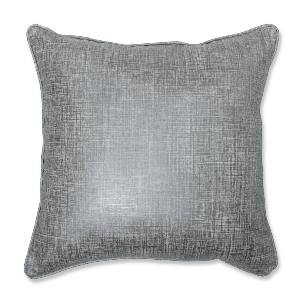 Alchemy Linen Platinum Square Throw Pillow Silver Pillow Perfect