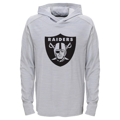 Oakland Raiders Boys  Lightweight Gray Pullover Hoodie - S   Target 0b613d684