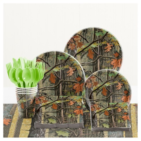 Hunting Camo Birthday Party Supplies Kit - image 1 of 1
