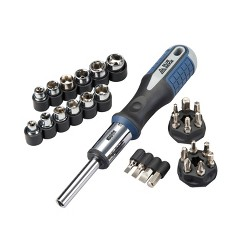 Blue Ridge Tools 26pc Ratcheting Socket and Screwdriving Set