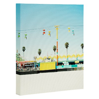 "8"" x 10"" Bree Madden Santa Cruz Beach Art Canvas - Deny Designs"