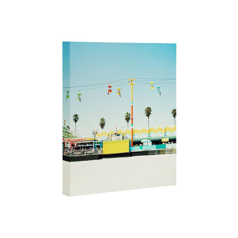 24 34 X 30 34 Bree Madden Santa Cruz Beach Art Canvas Deny Designs
