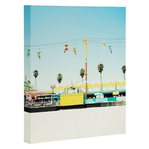 "Bree Madden Santa Cruz Beach Art Canvas 8"" x 10"" - Deny Designs - image 1 of 1"