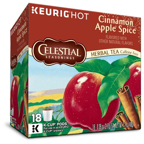 Celestial Seasonings Herbal Cinnamon Apple Spice Tea Keurig K-Cup Pods - 18ct - image 1 of 1