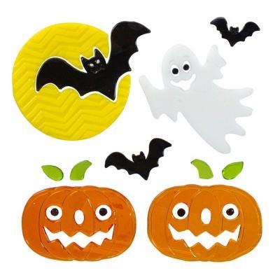 Northlight Ghost and Pumpkin Halloween Gel Window Clings