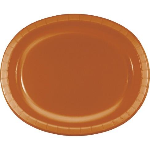 24ct Pumpkin Spice Orange Oval Plates Orange - image 1 of 2