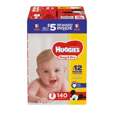 Huggies Snug & Dry Diapers Super Pack - Size 2 (140ct)