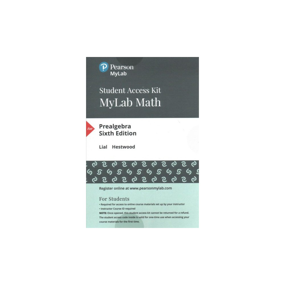 Prealgebra Access Code (Hardcover) (Margaret L. Lial & Diana Hestwood)