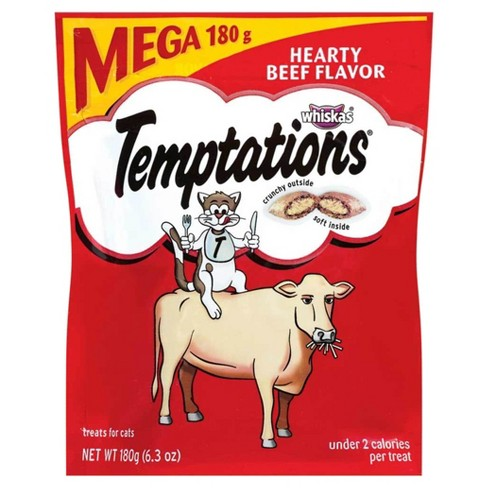 Temptations Mega Beef Flavor Cat Treats - 6.3oz - image 1 of 6