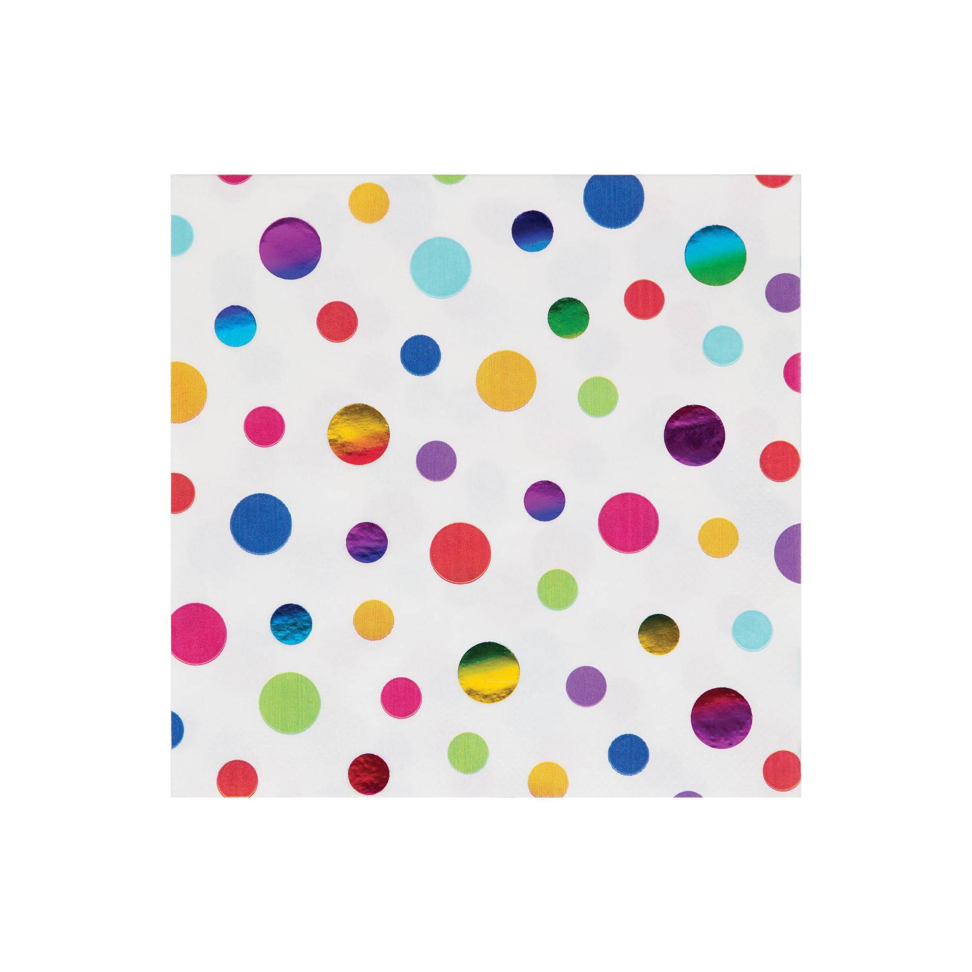 48ct Rainbow Print Disposable Napkins
