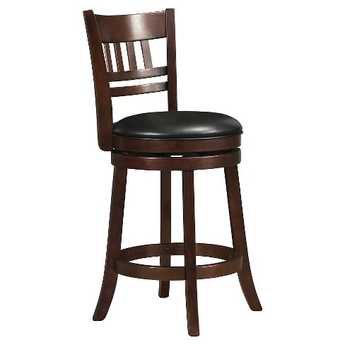 "Wolcott Swivel 24"" Counter Stool - Charcoal Heather - Inspire Q - image 1 of 4"