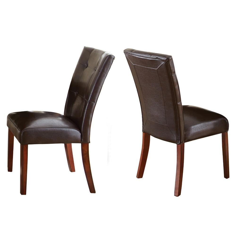 Fergus Parsons Chair Brown (Set of 2) - Steve Silver