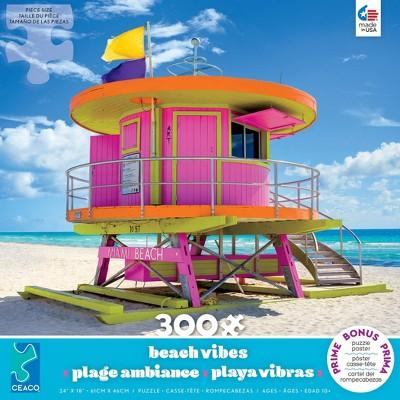 Ceaco Beach Hut Miami Jigsaw Puzzle - 300pc