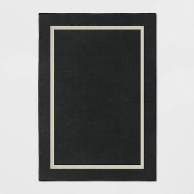 7'X10' Good Fashion Frame Border Rug Black - Room Essentials™