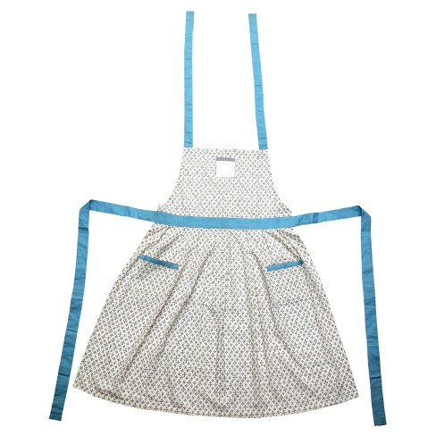 Blue Geometric Cooking Apron  - Threshold™ - image 1 of 3