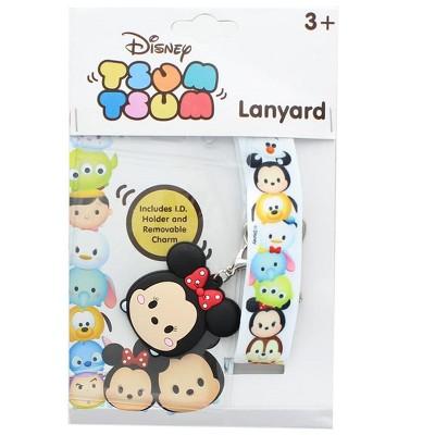 Nerd Block Disney Tsum Tsum Character Lanyard w/ Minnie Mouse Charm