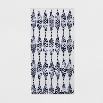 Printed Dot Triangle Beach Towel Navy - Opalhouse™