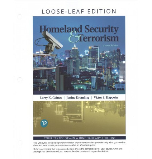 Homeland Security & Terrorism -  by Larry K Gaines & Janine Kremling & Victor E. Kappeler (Paperback) - image 1 of 1