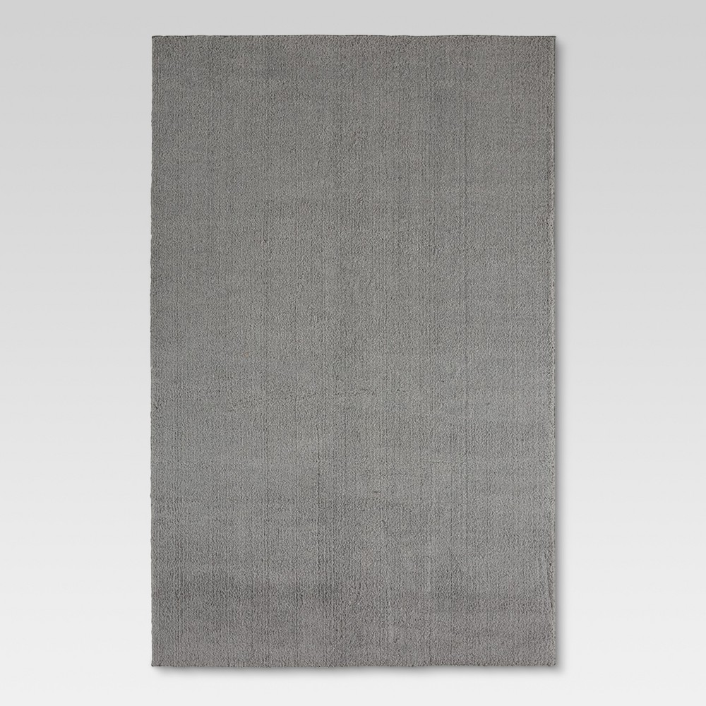 "Image of ""6'6""""X10' Solid Tufted Micropoly Shag Area Rug Gray - Project 62"""