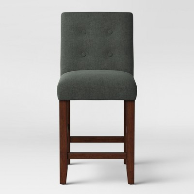 24  Modern Parsons Counter Stool w Buttons Dark Gray - Project 62™