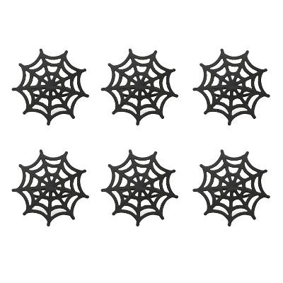 6pk Black Napkin Ring 3 x3  - Design Imports