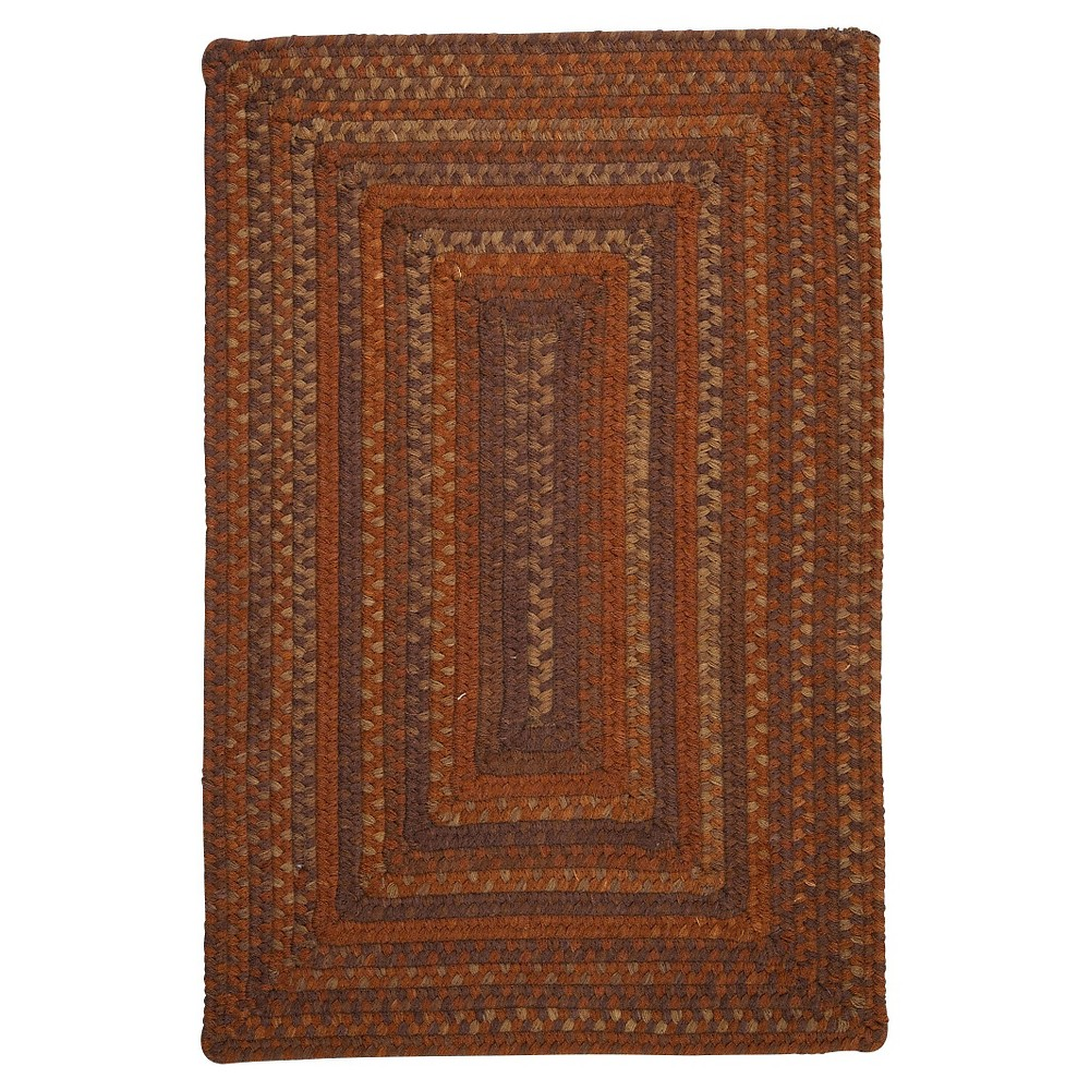 Ridgevale Spacedye Wool Braided Area Rug - Audubon Russet - (7'x9') - Colonial Mills, Red
