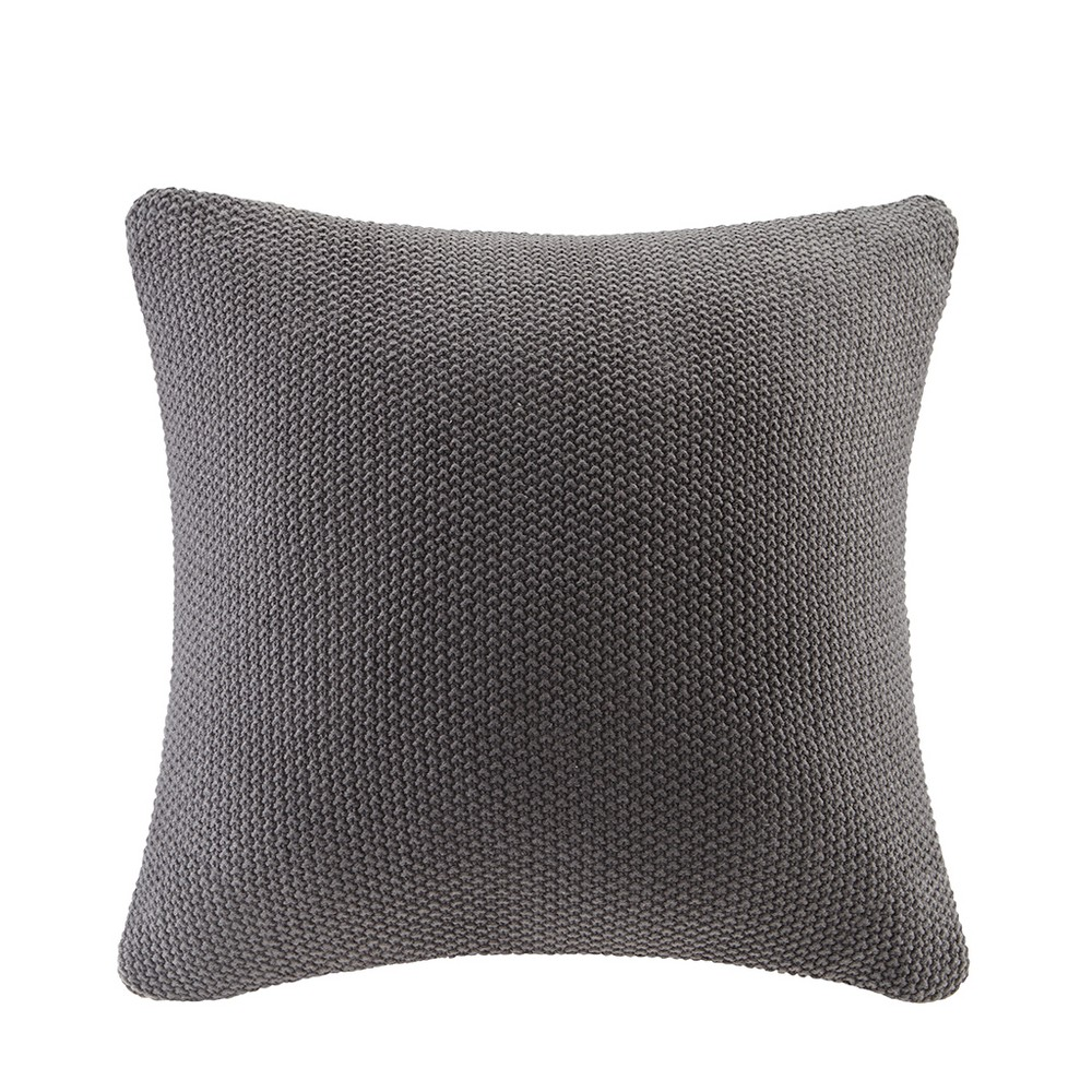 "Image of ""Bree Knit Throw Pillow Black, Size: 26""""x26"""""""