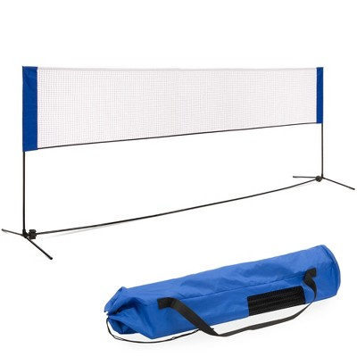 Best Choice Products 12.5ft Portable Freestanding Indoor/Outdoor Net for Volleyball, Tennis, Badminton w/ Carrying Case