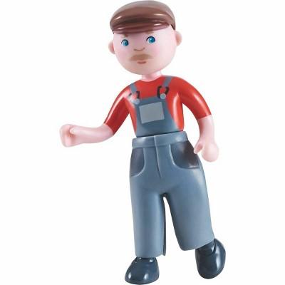 """HABA Little Friends Farmer Franz - 4.5"""" Dollhouse Toy Figure"""