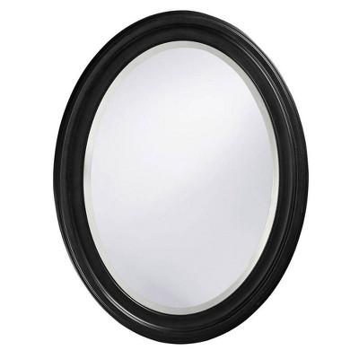 Oval George Decorative Wall Mirror Black - Howard Elliott