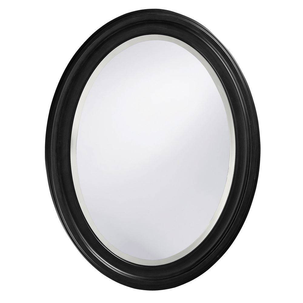 Image of Oval George Decorative Wall Mirror Black - Howard Elliott