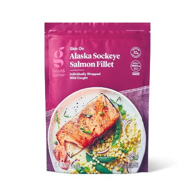 Alaska Sockeye Salmon Skin On Fillets - Frozen - 16oz - Good & Gather™