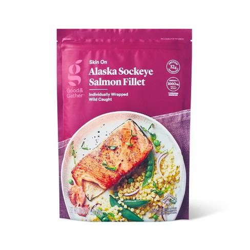 Alaska Sockeye Salmon Skin On Fillets - Frozen - 16oz - Good & Gather™ - image 1 of 3