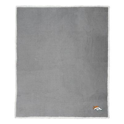 NFL Denver BroncosWaffle Sherpa Throw Blanket