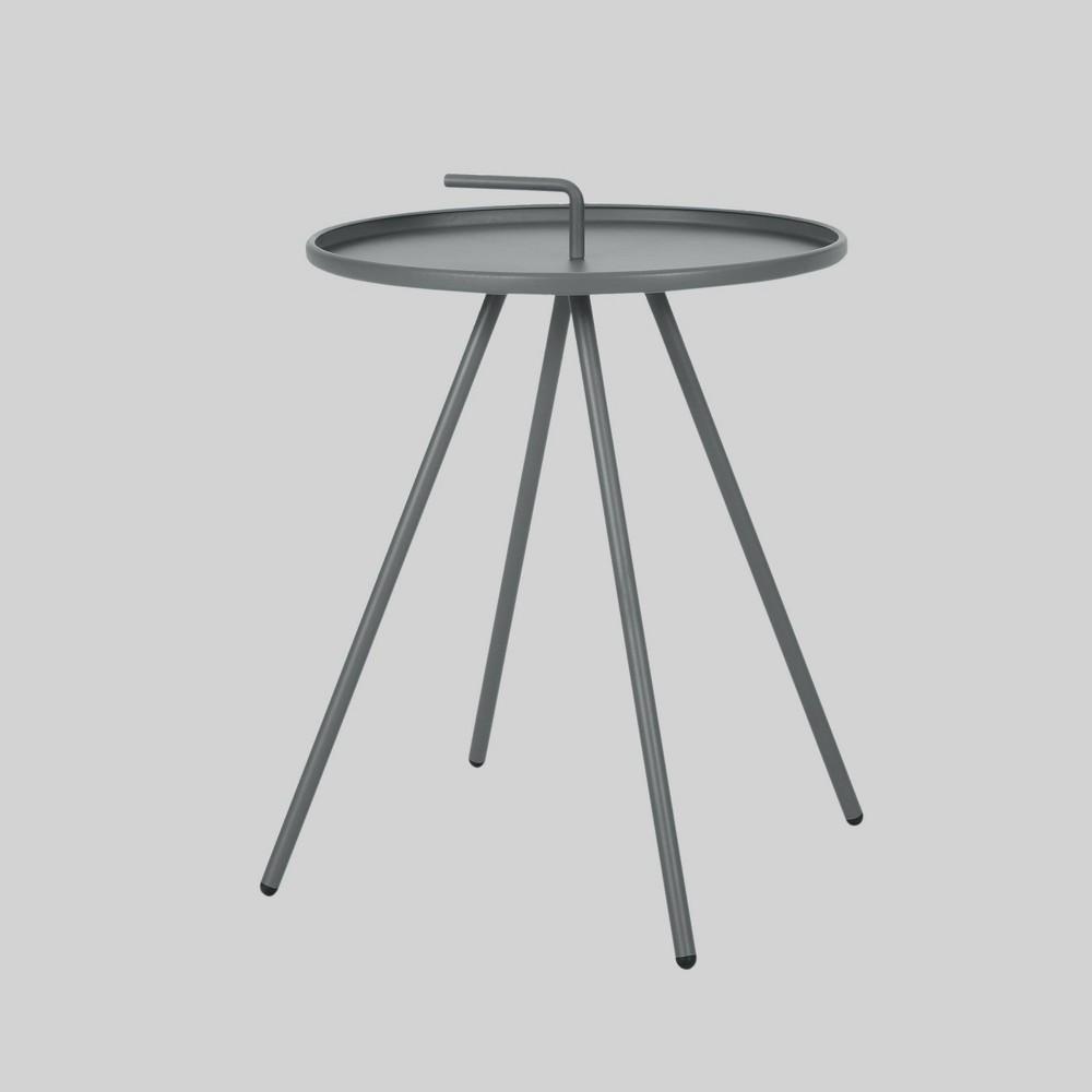 Vida Modern Patio Side Table Gray - Christopher Knight Home