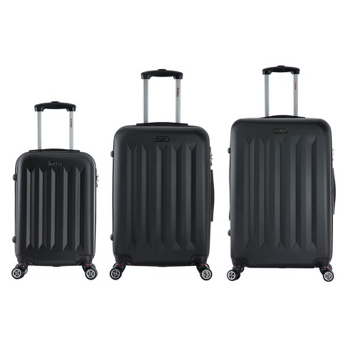 InUSA Philadelphia 3pc Hardside Spinner Luggage Set - Black - image 1 of 4
