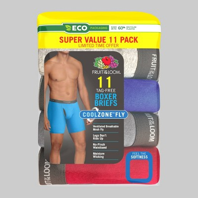 Fruit of the Loom Men's 5+6 Super Value Pack Coolzone Boxer Briefs - M