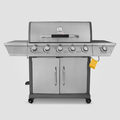 Stainless Steel 5 Burner Propane Gas Grill with Side Burner GG5302S Silver - Royal Gourmet