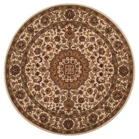 Ivory Medallion Tufted Round Area Rug 8' - Safavieh - image 1 of 1